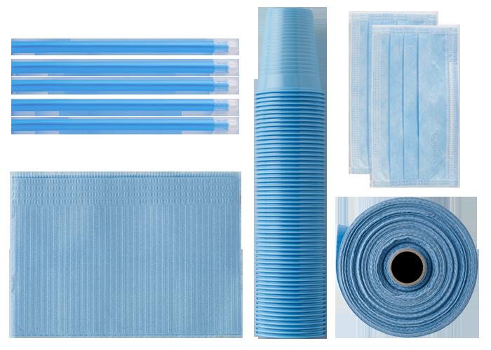 prodotti monouso azzurri