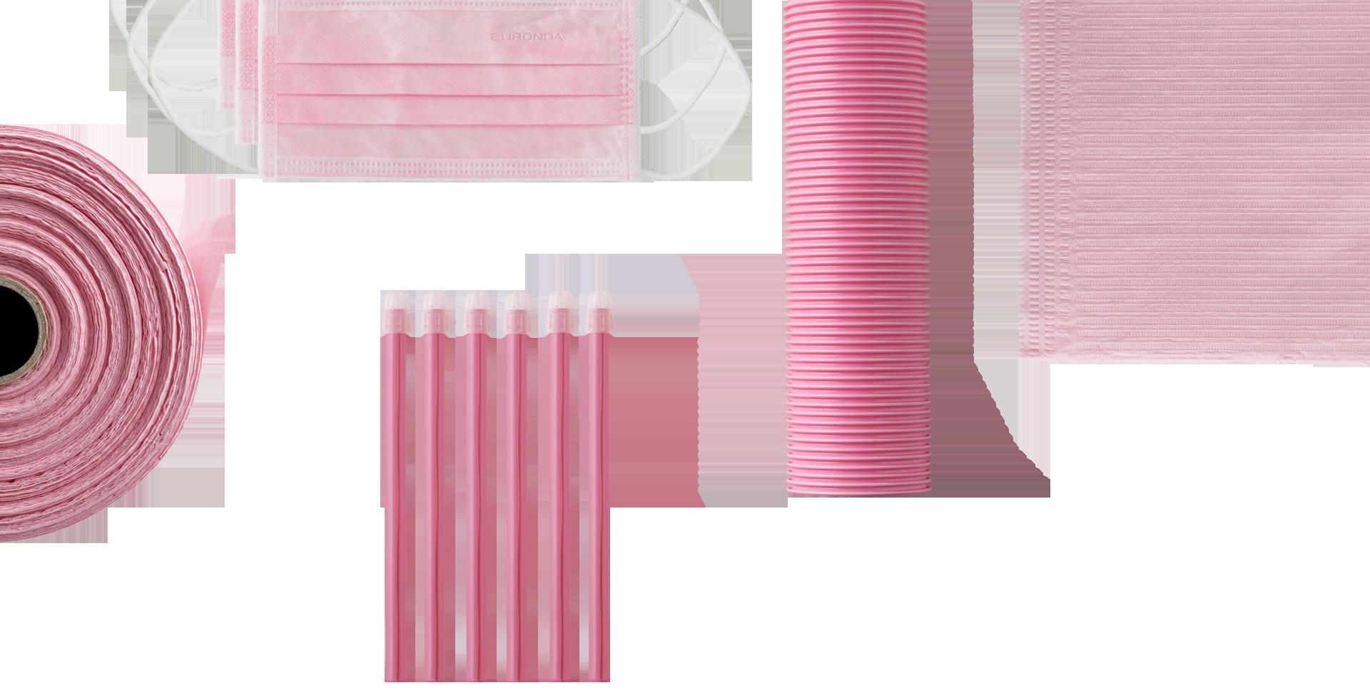prodotti monouso rosa