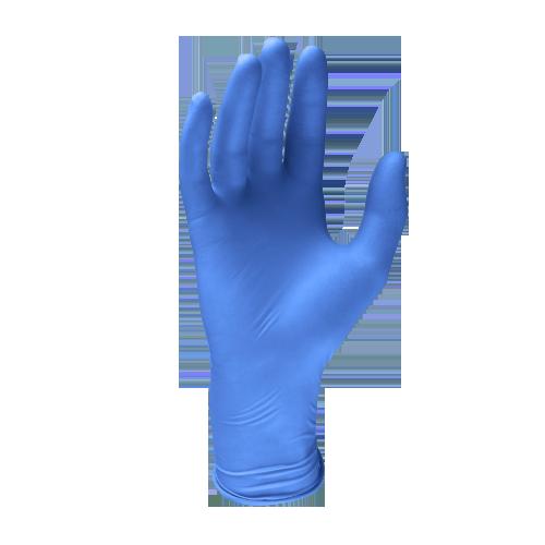 guanto in lattice monouso blu