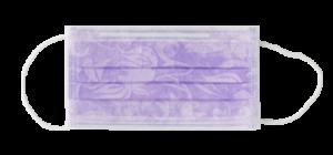 mascherina monouso floreale lilla