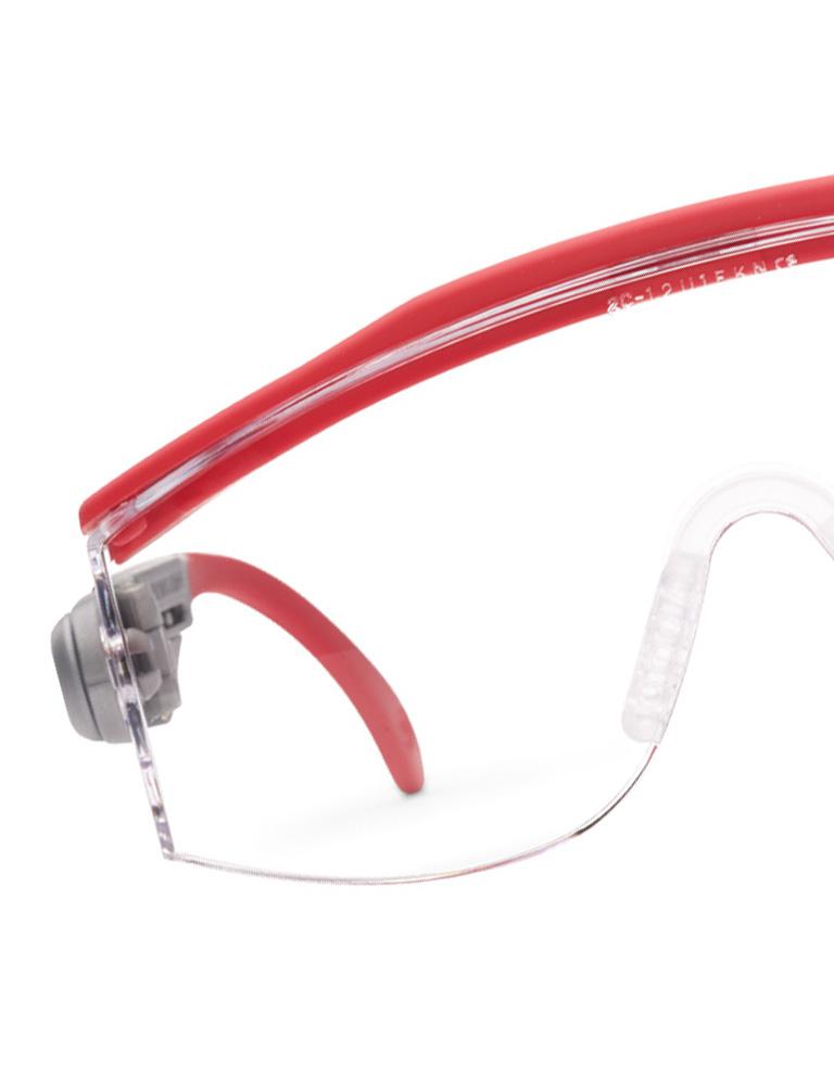 occhiali protettivi rossi