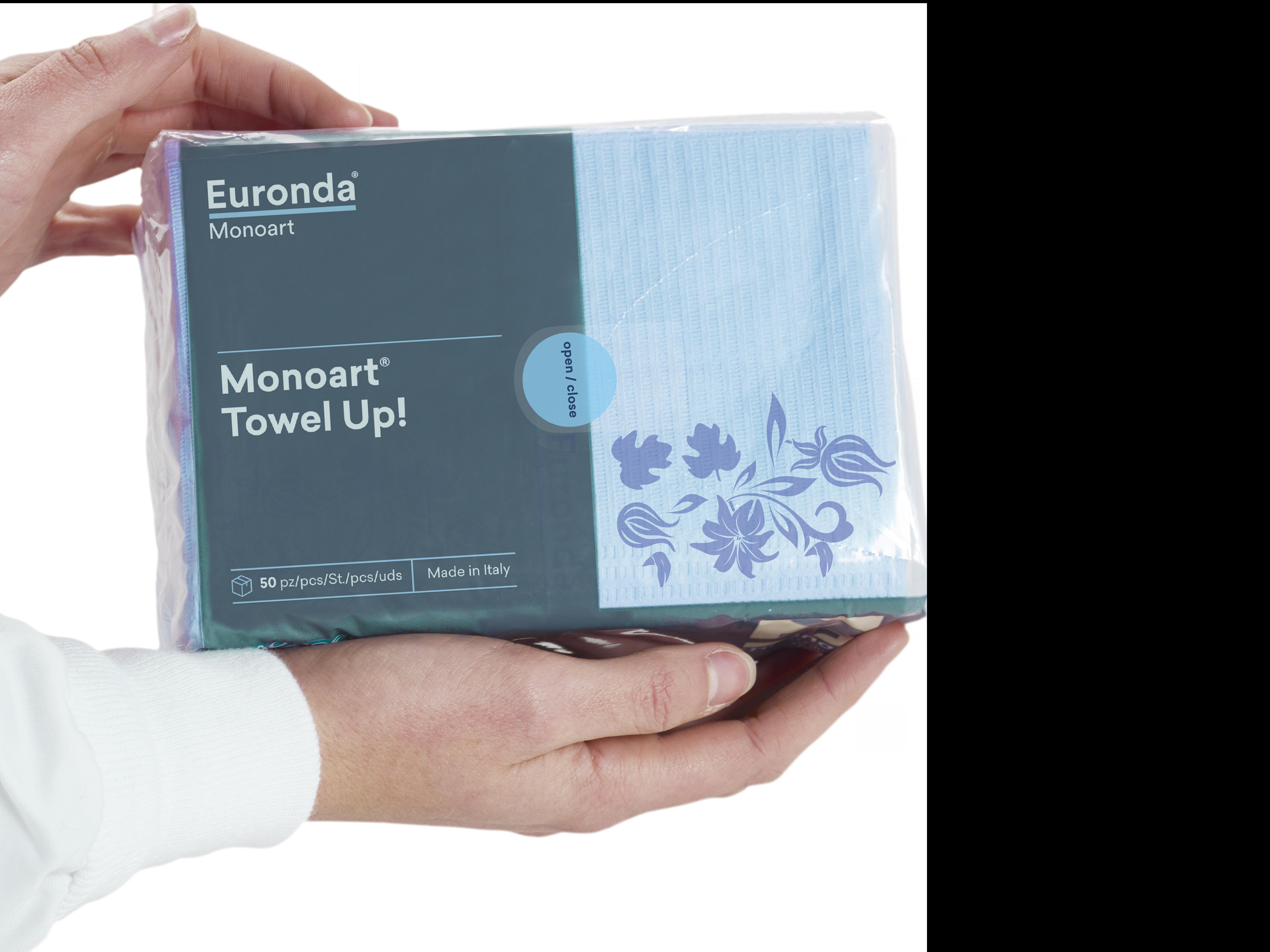 Towel Up lilla floral_nuovo pack2-azzurro - Copia